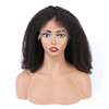 Double drawn raw indian temple remy virgin 4B full lace human hair wig curly