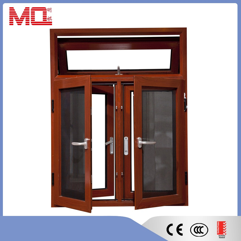 aluminum casement window with stainless steel net