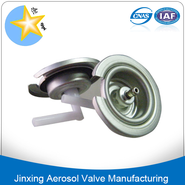 Water based body spray aerosol valves