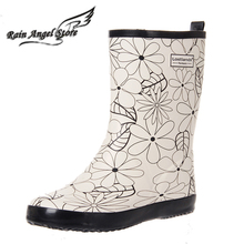 Lostlands women's elegant moscire rubber rain boots women's rainboots water shoes rain shoes four seasons