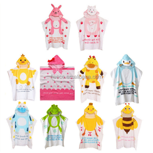 Wholesale Super soft Animal Carton Hooded Baby Bath Towel