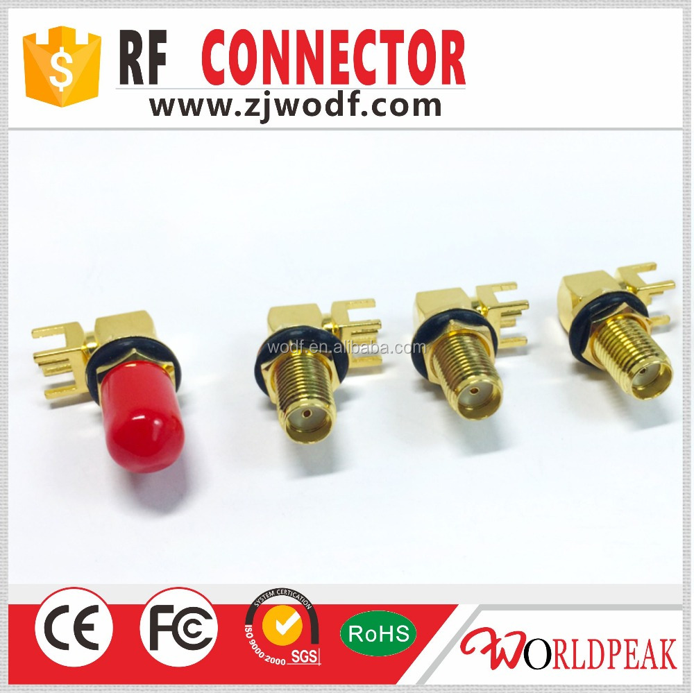 SMA female right angle bulkhead type to PCB rf connector waterproof