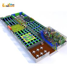 cheap foam blocks kids fitness bungee exercise indoor trampoline park