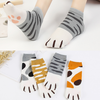 2018 new design manufacturers wholesale women summer short all cotton lovely lady cartoon cat PAWS socks