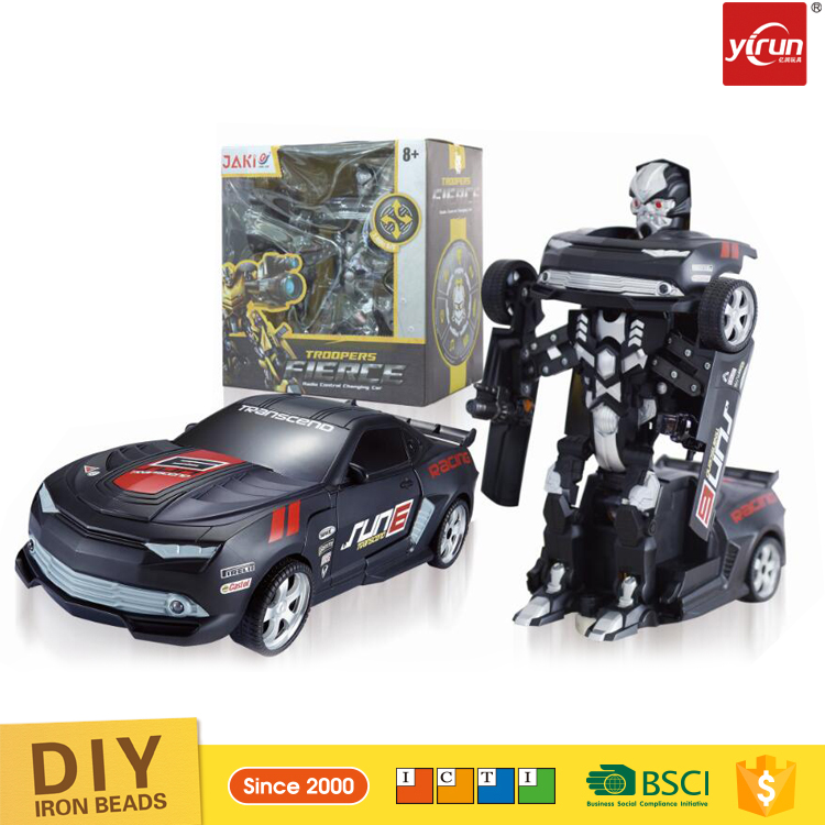 YK034685 Remote control car 2.4G RC Deformation Robot educational robot kit