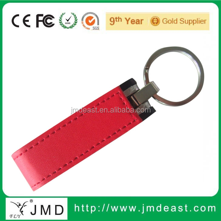 Hotsale new design luxury usb flash drive, Embossed logo leather usb 1GB to 64GB