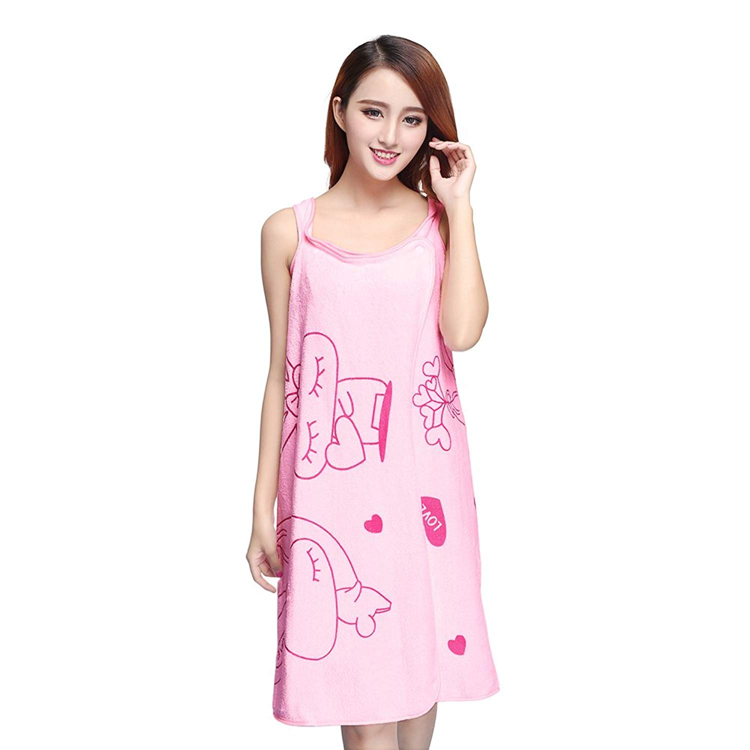 Luxsea Ladies Lovely Magic Sleeves Nightgowns Unisex Transformable Bath  Robes Towels Cartoon Printed Bath Towels aec61de52