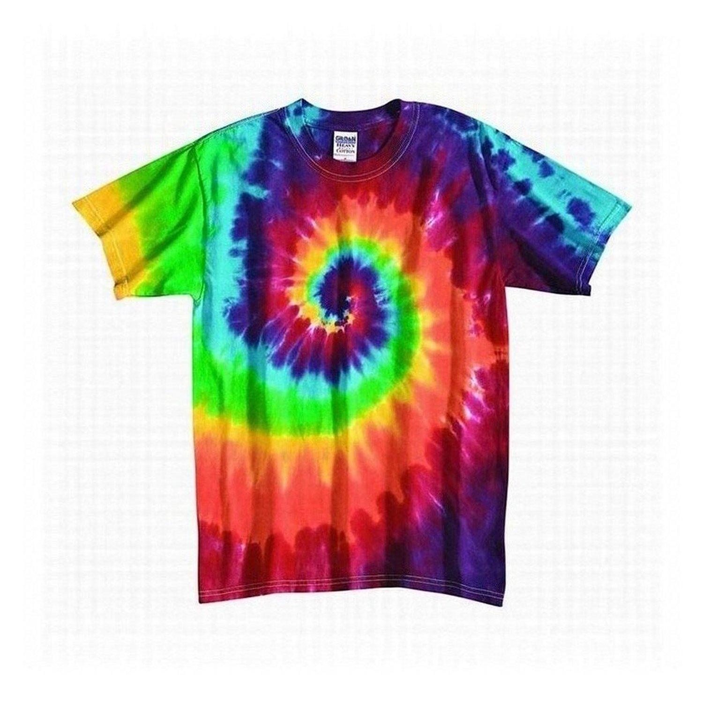 Tie Dye Mania Youth Retro Rainbow Swirl Tie-Dye Short Sleeve T