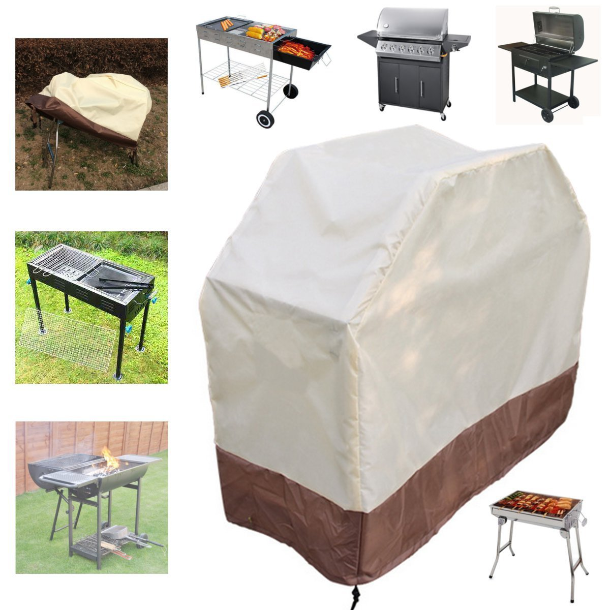 Wrap Grill Gas Barbecue Covers Outdoor Picnic & Bbq - 180x56x110cm Bbq Grill Gas Barbecue Waterproof Covers Garden Outdoor Cooking Protector - Cut Through Gasolene Encompass - 1PCs