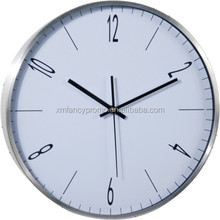 Modern thin frame custom made aluminium wall clock