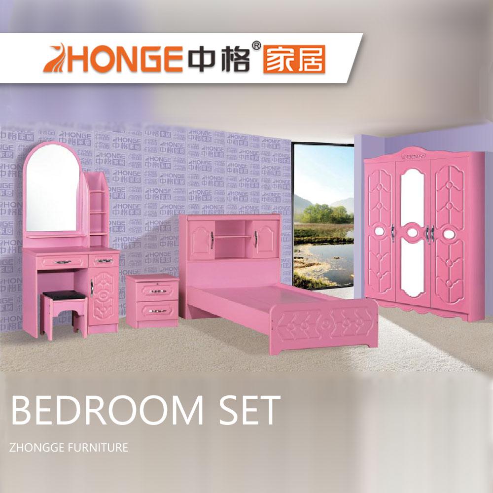 Simple Design Girls Pink Bed Pvc Bedroom Set Wooden Kids Bedroom Furniture  Set - Buy Girls Pink Bed Pvc Bedroom Set,Wooden Bedroom Furniture,Wooden ...