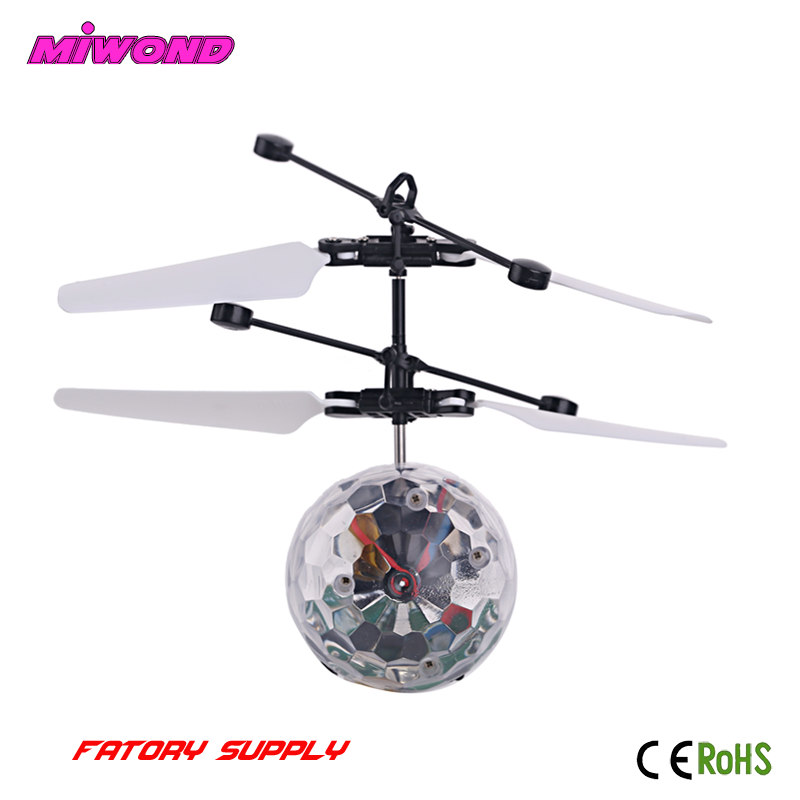 Best Kids Toy Hand Sensor Led Flying Ball Helicopter Toys Magic Flying Ball