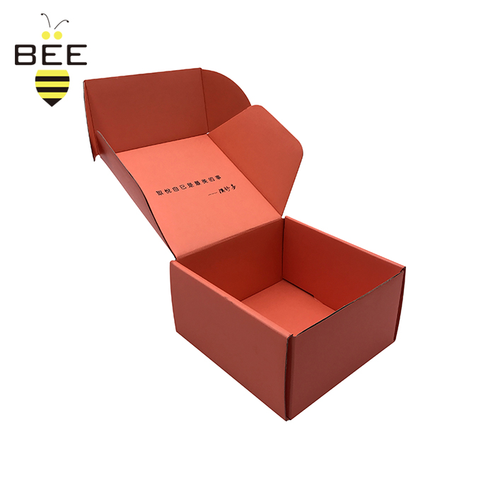 Chinese factory packaging food kraft paper box for shirt oem shipping