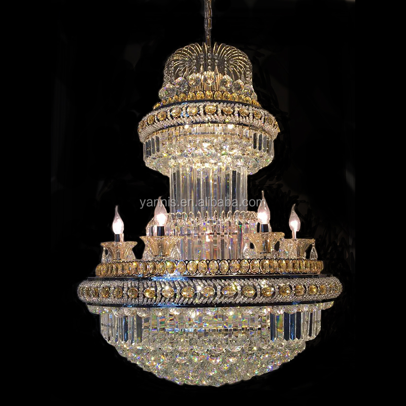 K9 crystal wholesale candle chandelier style contemporary ceiling lamp pendant light