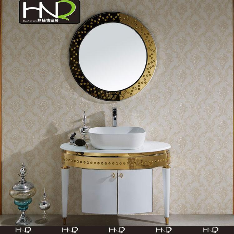 blanco y oro muebles mueble de bao con encimera de lavabo para el bao