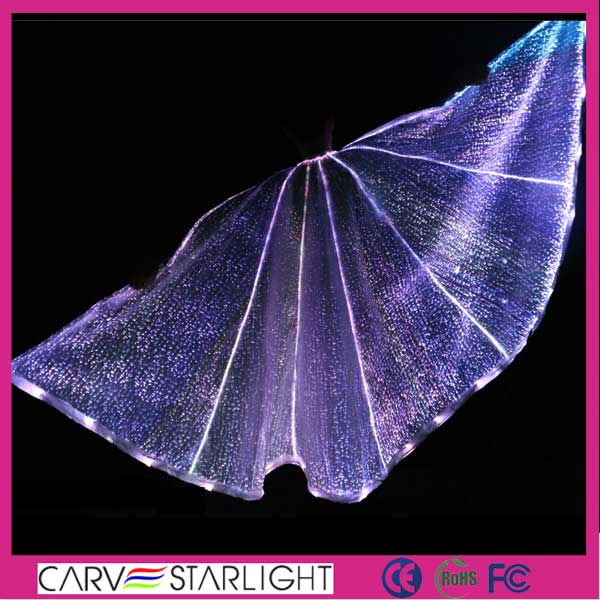 optic fiber fabric newest adult belly dance isis angel wings