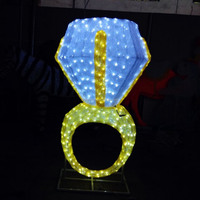 large diamond design outdoor party lights wedding party decoration light