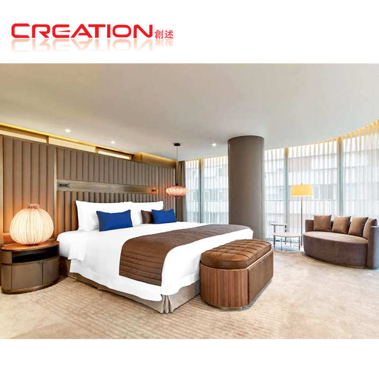 Veneer finished Modern sheraton hotel furniture for hotel room