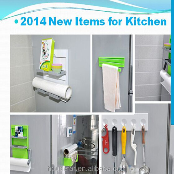 5 in 1 Magnetic Fridge Storage Organiser Set Rack Shelf Hook Tissue Paper Towel