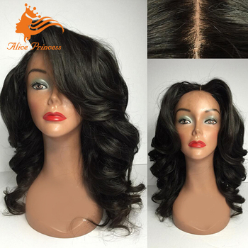40d75a704 New Arrival Natural Black Lace Front Wig For Black Women With Silicone Silk  Wig Cap Virgin Mongolian Hair Loose Body Wave Style - Buy Lace Front Wig ...