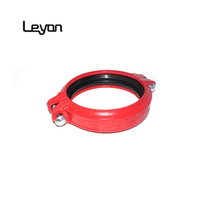 grooved pipe fitting flexible coupling clamp ductile iron rigid flexible coupling