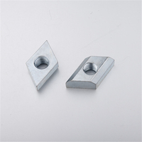 Steel trapezoidal plate rivet nut rhombus t slot nut for aluminum profile M8 M12(2A37.A)