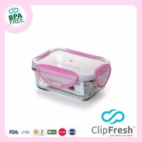 Clip Fresh easy lock Glass food storage container 330ML
