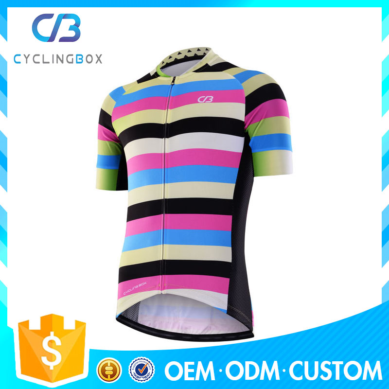 2017 high quality summer cycling gear/bike short jersey with sublimation