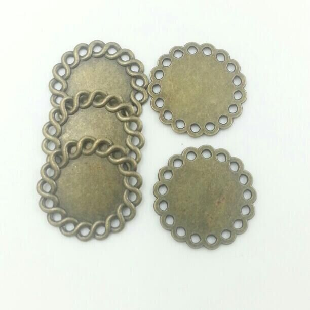 Get Quotations · 16mm Round Spacers Vintage Bronze Zinc Alloy Lace Spacers  Jewelry Findings 10pcs T613 6155f6eb284d