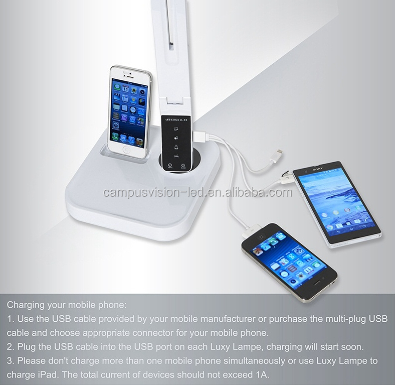 Amazon Hot Selling Intelligent Led Table Lamps With Iphone5/6 ...