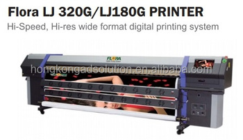 Flora LJ320G 3.2m printer on Ricoh print head