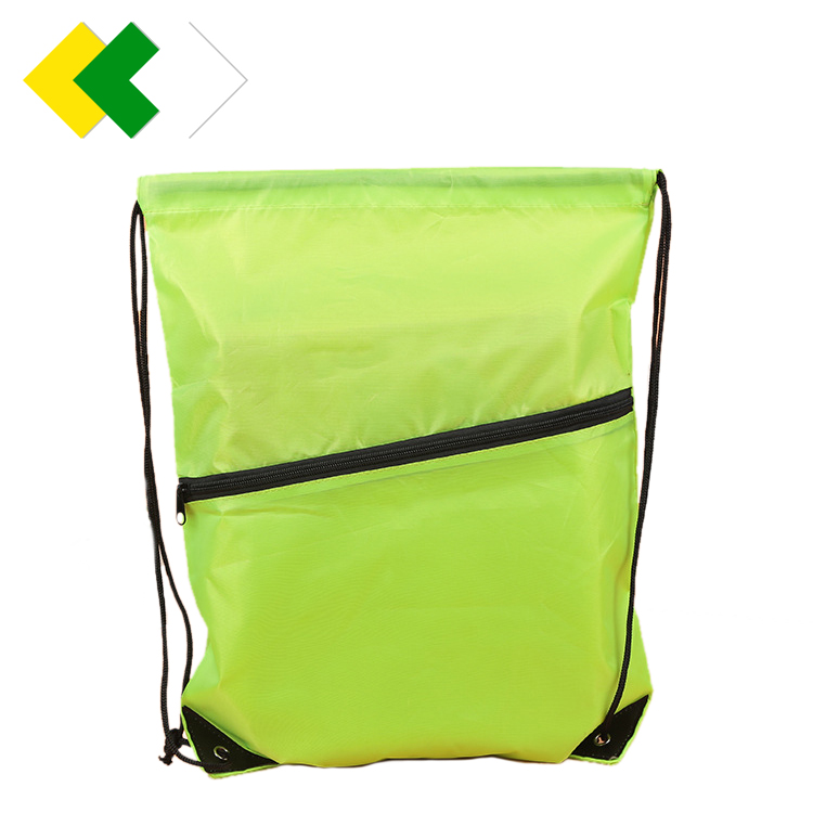 Yijun Wholesale drawstring backpack foldable nylon polyester reusable grocery shopping tote bag