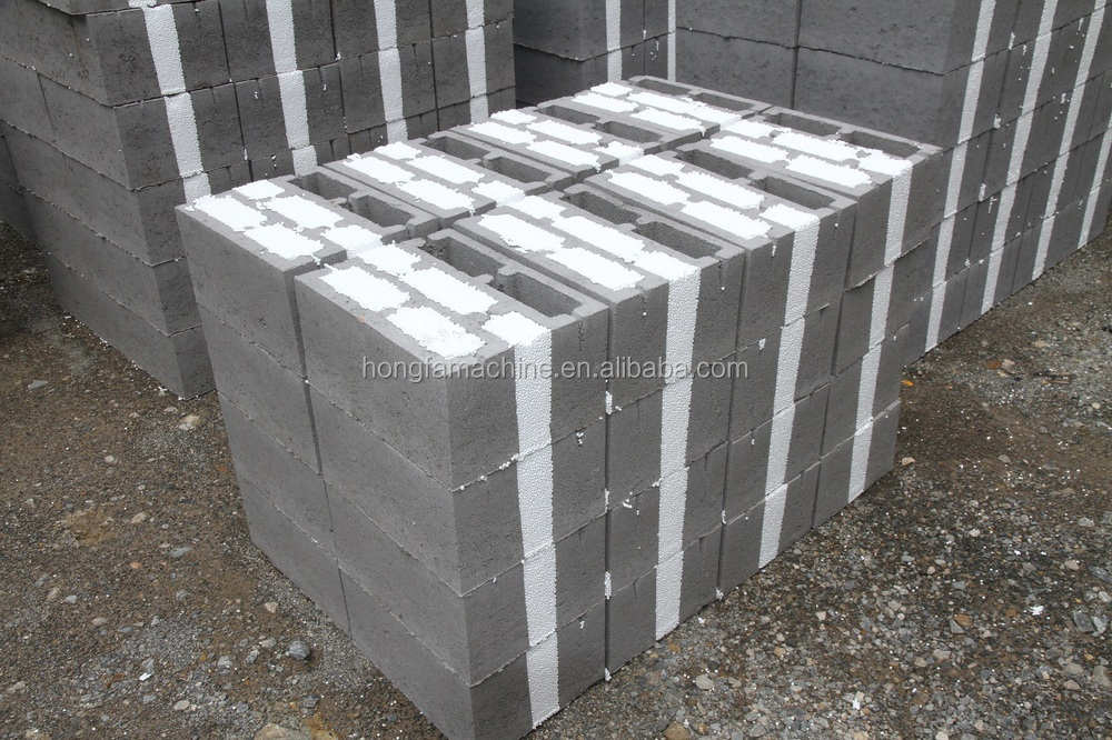 Thermal insulating concrete block making machine for Insulated concrete foam