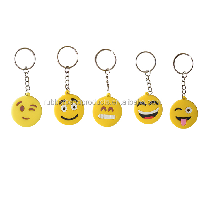 Custom Soft Pvc 3D Key Chain With Logo ,Emoji Key Chain