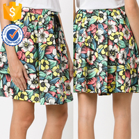 A-line Colorful Flowers Cartoon Print Cute Mini Summer Skirts For Ladies Manufacture Wholesale Fashion Women Apparel (TE0199k)