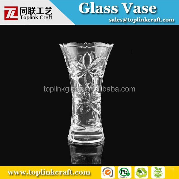 Hot selling pink rose engraved flower vase/wholesale vase/wedding vases