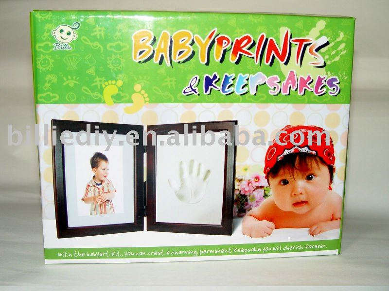 Baby Handprint And Footprint Picture Frame Casting - Buy Picture ...