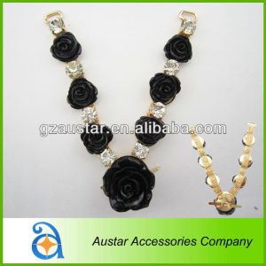 Charming! flower with rhinestone women's shoe ornaments