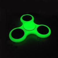 Custom brand fidget spinner glow in dark Tri spinner adhd fidget toy