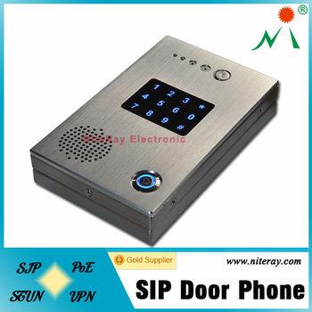 Ip Door Entry Phone For Remote Control Intercom Door Phone Audio