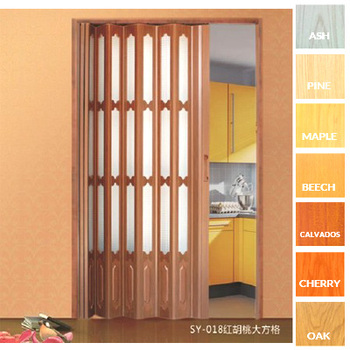 Decorous Design Pvc Plastic Interior Folding Doorslightweight