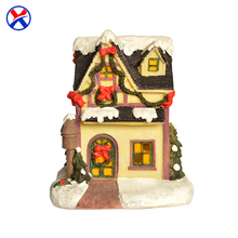 Promotion wholesale resin yellow miniature building model house figurine