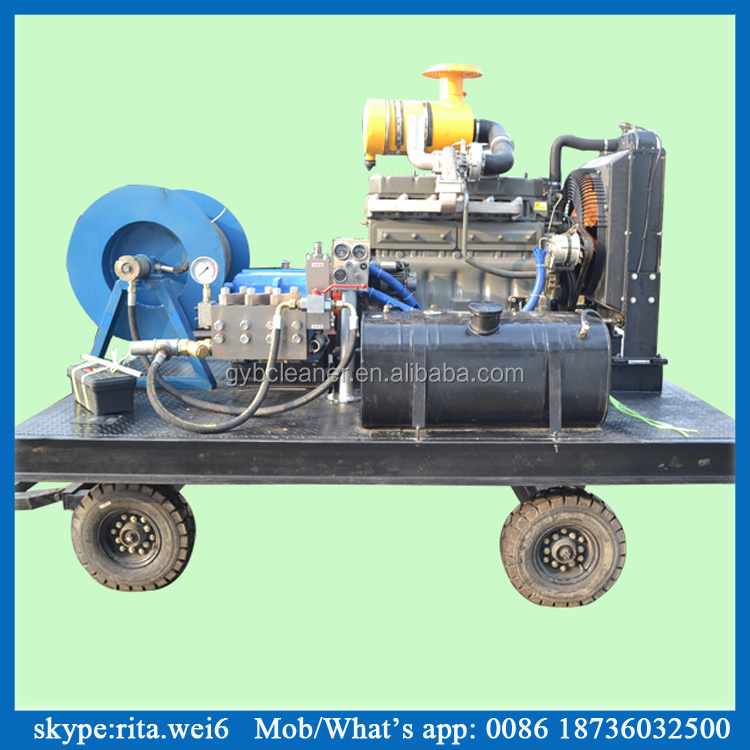 30~90kw diesel pipe cleaner high pressure water jet for cleaning sewer drains