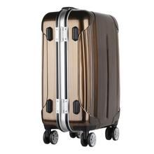 In stock hard shell boarding suitcase airport luggage stretch film wrapping machine pc luggage aluminum suitcases for wholesales