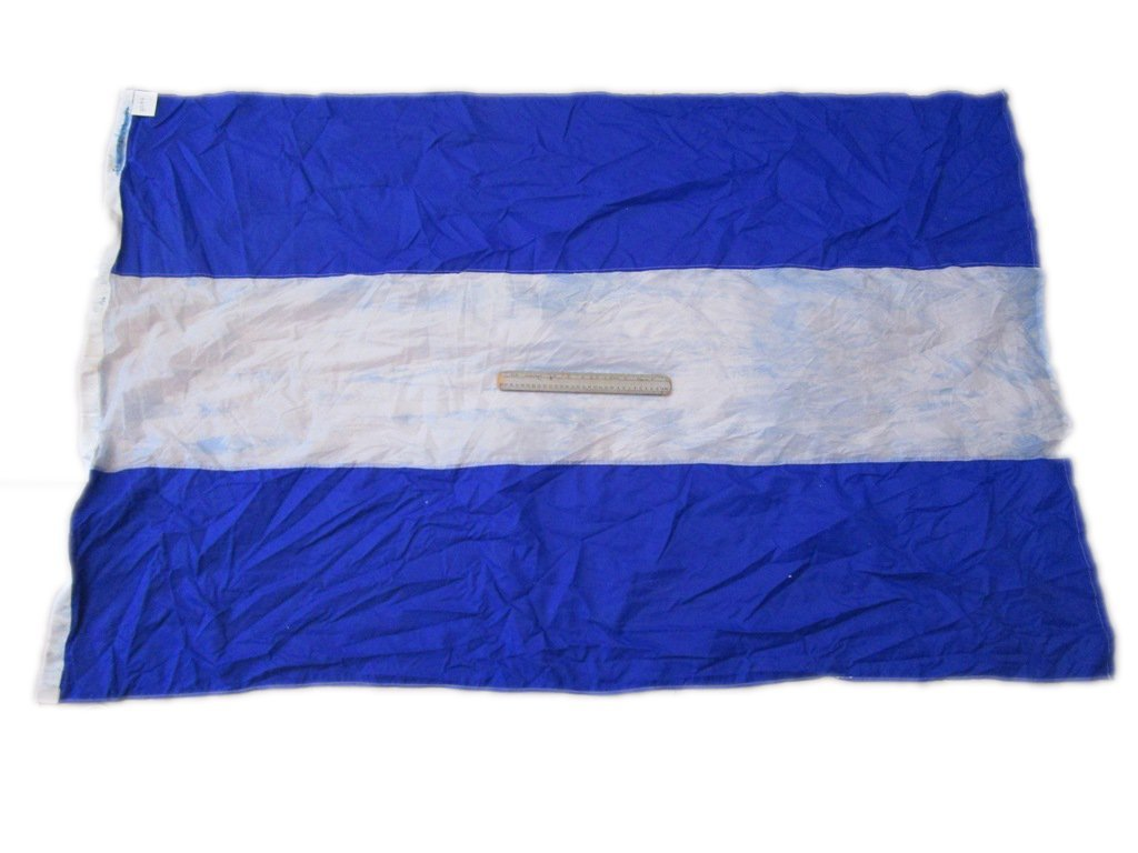 "8/"" X 13/"" 100/% Cotton – Marine Code Nautical // Boat 5 Naval Signal Flag"