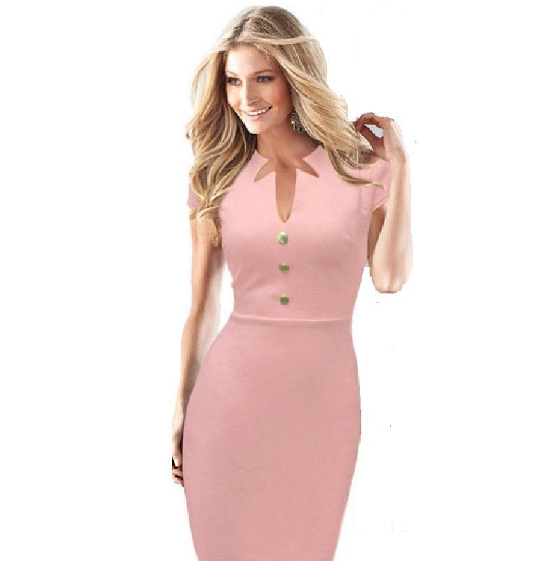 c715d8c9fb7a Get Quotations · Drop Price European Fashion Solid Slim Elegant Ladies Midi  Bodycon Summer Dress Vintage Women Dresses Quality