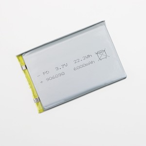 3.7V 6000mAh Rechargeable Polymer Li ion battery for GPS Tablet PC DIY 906090