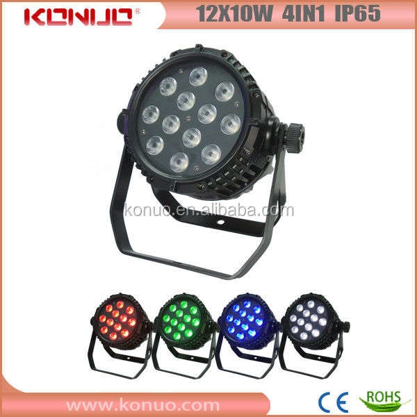 Star producrs in stage light!! 12pcs 4 IN1 quad-color led par ip65
