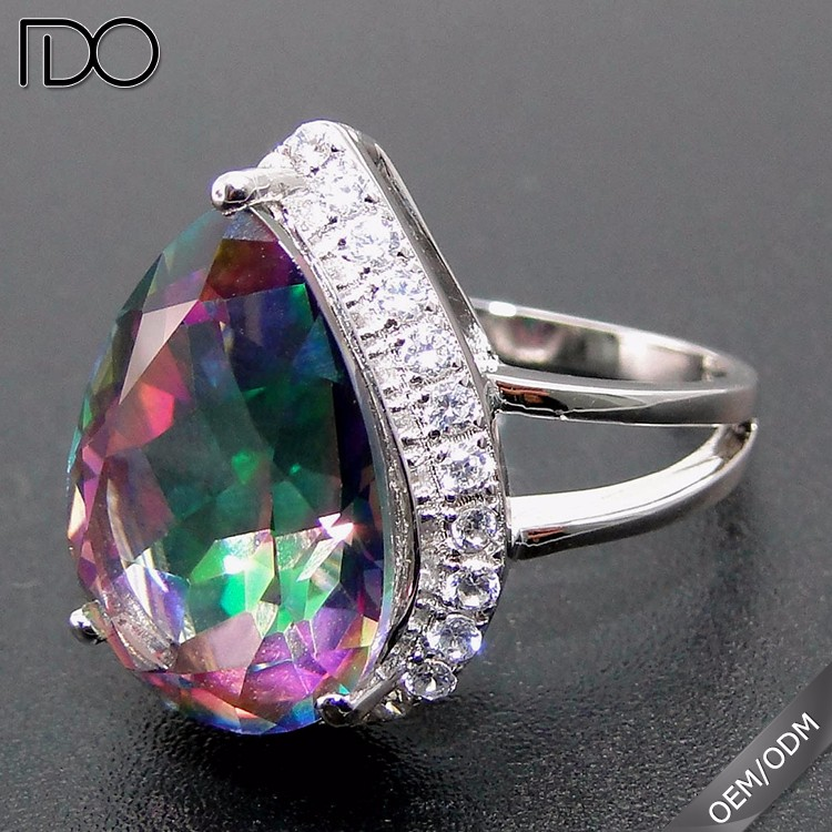 High quality promotion zircon indian stone ring