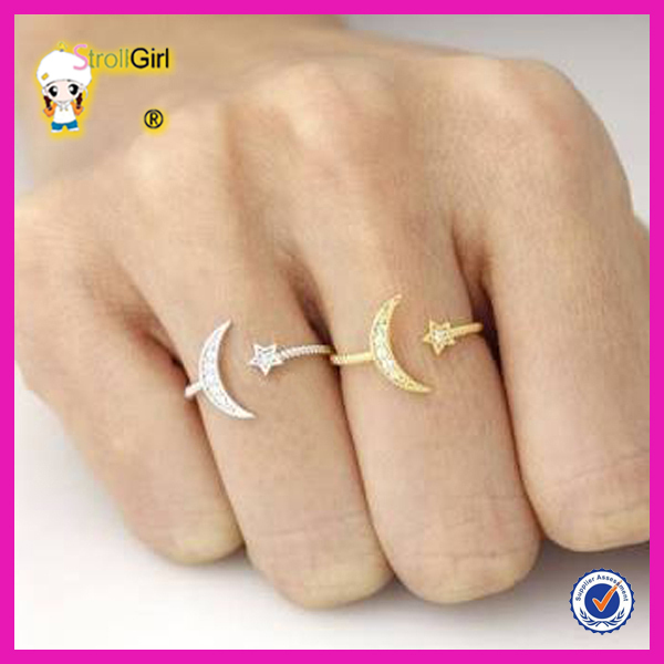 Hot fashion gold rings without stones simple gold plated ring for